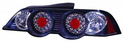 In Pro Carwear - Acura RSX IPCW Taillights - LED - Bermuda Black - 1 Pair - LEDT-109B2
