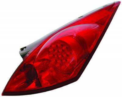In Pro Carwear - Nissan 350Z IPCW Taillights - LED with Chrome Panel - 1 Pair - LEDT-1110R2