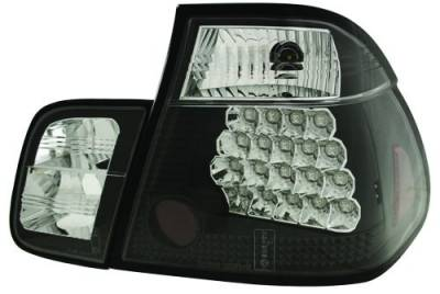 In Pro Carwear - BMW 3 Series 4DR IPCW Taillights - LED - Bermuda Black - 4PC - LEDT-207B2