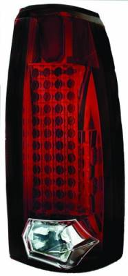 In Pro Carwear - Cadillac Escalade IPCW Taillights - 44 LEDs - Ruby Red - 1 Pair - LEDT-303CR