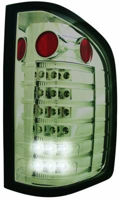 In Pro Carwear - Chevrolet Silverado IPCW Taillights - Fiber Optic & LED - 1 Pair - LEDT-3040CS