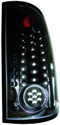In Pro Carwear - GMC Sierra IPCW Taillights - Fiber Optic & LED - 1 Pair - LEDT-3041CB