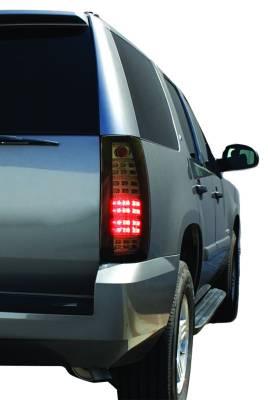 In Pro Carwear - Chevrolet Suburban IPCW Taillights - Fiber Optic & LED with LED Reverse Light - 1 Pair - LEDT-312CB