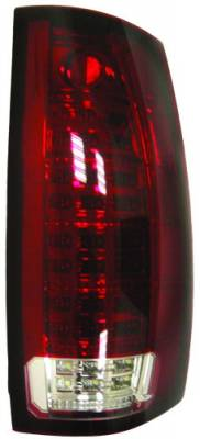 In Pro Carwear - Chevrolet Suburban IPCW Taillights - Fiber Optic & LED with LED Reverse Light - 1 Pair - LEDT-312CR