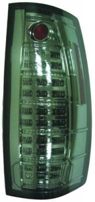In Pro Carwear - Chevrolet Suburban IPCW Taillights - Fiber Optic & LED with LED Reverse Light - 1 Pair - LEDT-312CS