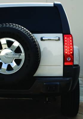 In Pro Carwear - Hummer H3 IPCW Taillights - LED - 1 Pair - LEDT-346CR
