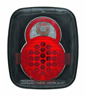 In Pro Carwear - Jeep Wrangler IPCW Taillights - LED - 1 Pair - LEDT-407CB