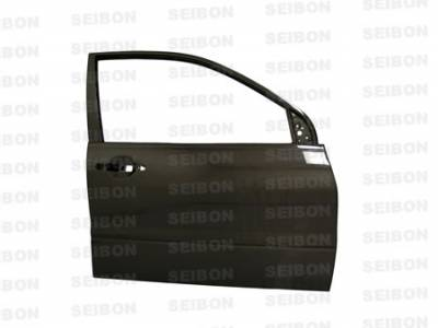 Seibon - Mitsubishi Evolution 8 Seibon Carbon Fiber Door - Front - DD0305MITEVO8-F
