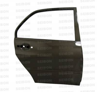 Seibon - Mitsubishi Lancer Seibon Carbon Fiber Door - Rear - DD0305MITEVO8-R