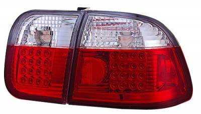 In Pro Carwear - Honda Civic 4DR IPCW Taillights - LED - 1 Pair - LEDT-732R2