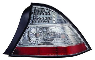 In Pro Carwear - Honda Civic 2DR IPCW Taillights - LED - 1 Pair - LEDT-737C2
