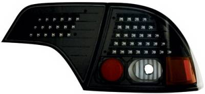 In Pro Carwear - Honda Civic 4DR IPCW Taillights - LED without Red Cap - Clear Lens - Black Housing - No Red Cap - 1 Pair - LEDT-745CB