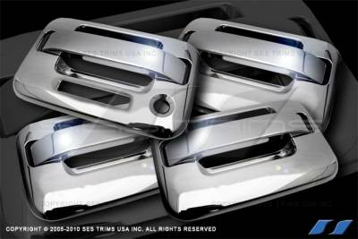SES Trim - Ford F150 SES Trim ABS Chrome Door Handles - without Keyless Entry - DH165-4