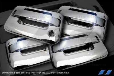 SES Trim - Ford F150 SES Trim ABS Chrome Door Handles - without Keyless Entry - DH166-4