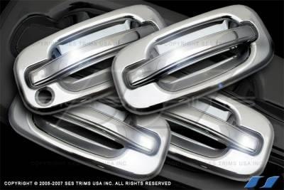 SES Trim - GMC Sierra SES Trim ABS Chrome Door Handles - DH505-4K