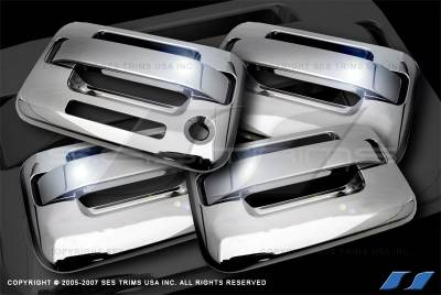 SES Trim - Ford F150 SES Trim ABS Chrome Door Handles - without Keyless Entry - DH509-4K