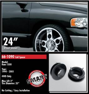 ReadyLift - ReadyLift Coil Spacer Suspension Leveling Kit - 2 Inch Lift 35 Inch Max Tire Dia