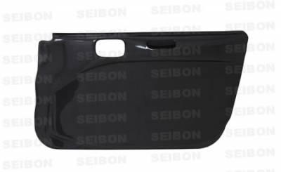 Seibon - Mitsubishi Lancer Seibon Carbon Fiber Door Panels - DP0305MITEVO8-F