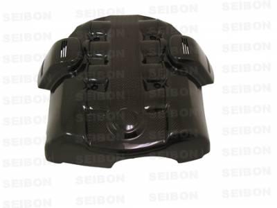 Seibon - BMW 5 Series Seibon Carbon Fiber Engine Cover - EC0407BMWE60