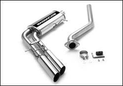MagnaFlow - Magnaflow Cat-Back Exhaust System with Dual Pipes Same Side Exit in Front of Tire - 15842