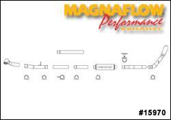 MagnaFlow - Magnaflow Performance Series 4 Inch Exhaust System - 15970
