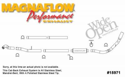 MagnaFlow - Magnaflow Performance Series 4 Inch Exhaust System - 15971