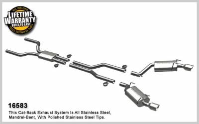 MagnaFlow - Chevrolet Camaro Magnaflow Dual Split Rear Exit Stainless Steel Cat-Back Exhaust System - 16583