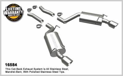 MagnaFlow - Chevrolet Camaro Magnaflow Dual Split Rear Exit Stainless Steel Axle-Back Exhaust System - 16584