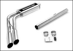 MagnaFlow - Magnaflow Cat-Back Exhaust System with Dual Side Exit Pipes Before the Rear Tire on Independent Front Suspension - 16701