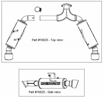 MagnaFlow - Magnaflow Dual Rear Exit Stainless Steel Axle-Back Exhaust System - 16825