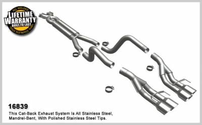 MagnaFlow - Chevrolet Corvette Magnaflow Dual Split Rear Exit Stainless Steel Cat-Back Exhaust System - 16839