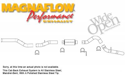MagnaFlow - Magnaflow Performance Series 4 Inch Exhaust System - 16932