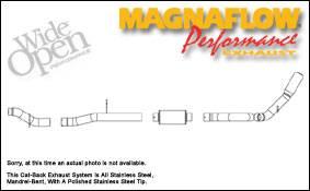 MagnaFlow - Magnaflow Performance Series 4 Inch Exhaust System - 16944