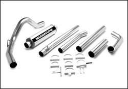 MagnaFlow - Magnaflow PRO Series 4 Inch Exhaust System with Turbo-Black Tuner - 17928