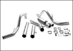 MagnaFlow - Magnaflow PRO Series 5 Inch Exhaust System with Dual Turbo-Back Tuner - 17990