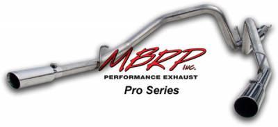MBRP - MBRP Pro Series Dual Split Rear Exhaust System S5108304