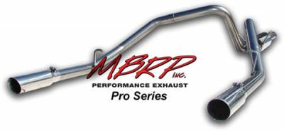 MBRP - MBRP Pro Series Dual Split Rear Exhaust System S5112304