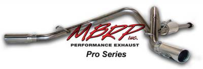 MBRP - MBRP Pro Series Dual Split Rear Exhaust System S5300304