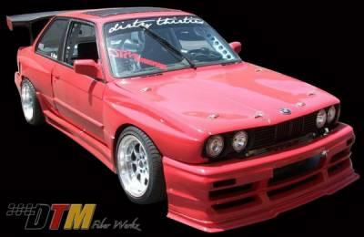 DTM Fiberwerkz - BMW 3 Series DTM Fiberwerkz OEM Style Pin Down Hood - FRP - E30-OEM-STYL