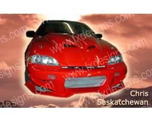 FX Designs - Chevrolet Cavalier FX Design Fiberglass Hoods Style Ram Air Hood - FX-917