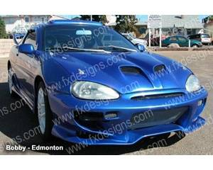 FX Designs - Mazda MX3 FX Design Pin On Style Ram Air Hood - FX-925