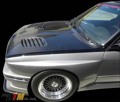 DTM Fiberwerkz - BMW 3 Series DTM Fiberwerkz GTR Vented Style Hood - E30 GTR Vent