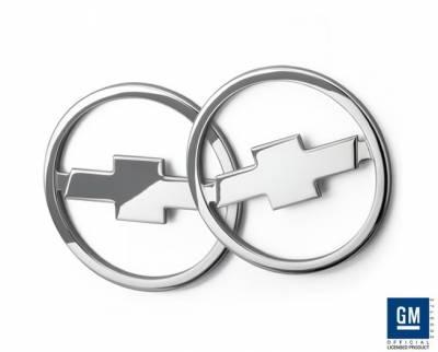 Defenderworx - Chevrolet Camaro Defenderworx Chrome Bowtie Speaker Covers - Chrome - CC1016