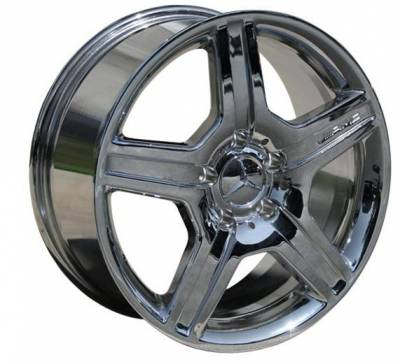 EuroT - 17 Inch 5 Chrome - 4 Wheel Set