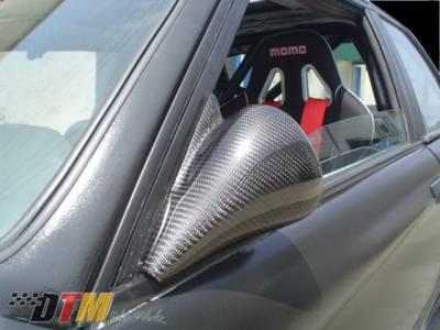 DTM Fiberwerkz - BMW 3 Series DTM Fiberwerkz DTM Style Non-Vented Mirrors - E30 DTM Styl