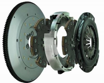 Fidanza - Ford Mustang Fidanza Twin Disc Clutch Kit - Six Point Five - 381465