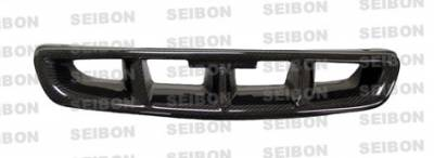 Seibon - Honda Civic Seibon MG Style Carbon Fiber Grille - FG9698HDCV-MG