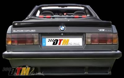 DTM Fiberwerkz - BMW 3 Series DTM Fiberwerkz Euro DTM Style Rear Apron - E30 Euro DTM