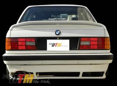 DTM Fiberwerkz - BMW 3 Series DTM Fiberwerkz US DTM Style Rear Apron - E30 Euro DTM