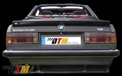 DTM Fiberwerkz - BMW 3 Series DTM Fiberwerkz Euro Rear Apron - E30-EURO-DTM